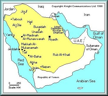 Map of the Kingdom of Saudi Arabia - RiyadhVision