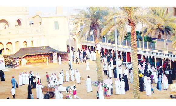 Visitors at the exhibition in Al-Kharj