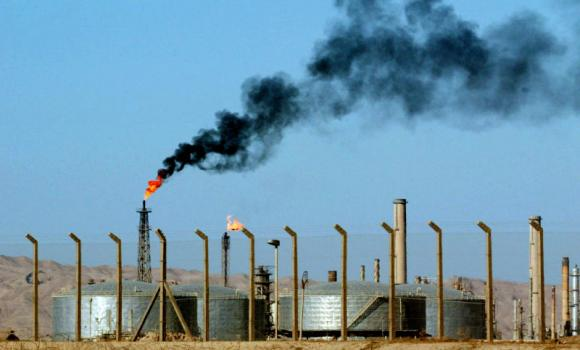 An oil refinery is seen in the city of Beiji, home to Iraq's largest oil refinery.