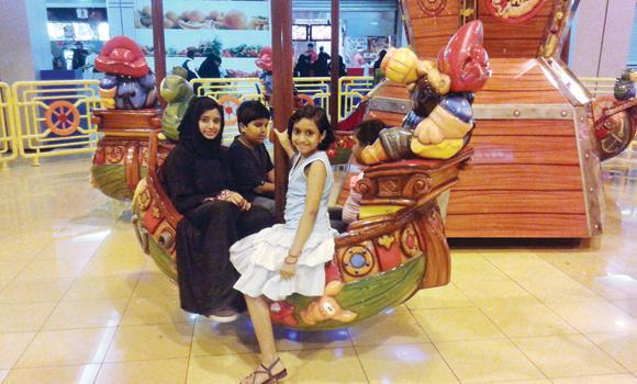 Recreational centers at various malls in Riyadh serve as the place for children to have fun.