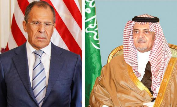 Foreign Minister Prince Saud Al-Faisal (right)) and his Russian counterpart Sergei Lavrov.