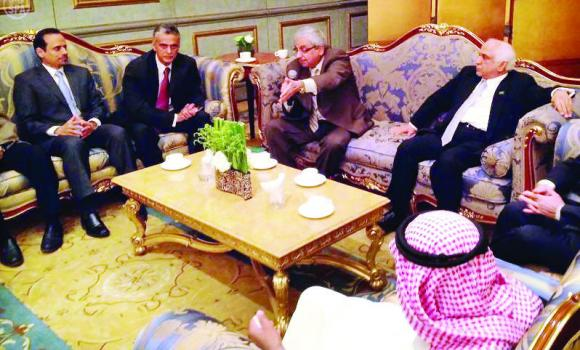 Members of the Shoura delegation hold talks in Beijing on Wednesday.