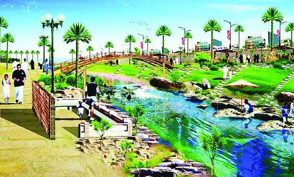 An artist's impression of the project to rehabilitate Wadi Sulay in Riyadh.