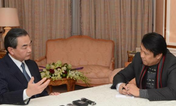 Chinese Foreign Minister Wang Yi during an interview with Arab News in December last year.