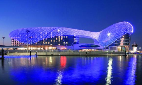 Yas Viceroy Abu Dhabi Exterior Dusk