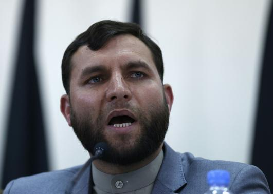The head of Afghanistan's Independent Election Commission (IEC) secretariat, Zia-ul-Haq Amarkhil, speaks during a news conference in Kabul.