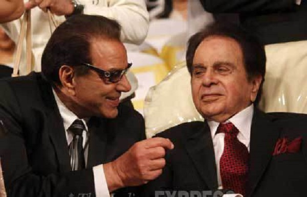 Actor Dharmendra with his idol Dilip Kumar.