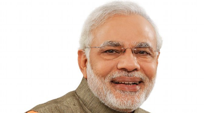 Official Photograph of India's Prime Minister Narendra Modi.