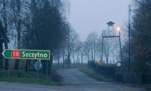 In this Dec. 16, 2005 file photo, a watch tower overlooks the area near the Polish intelligence school just outside of Stare Kiejkuty, Poland. The installation had become the focal point of allegations of secret CIA prisons in Poland.