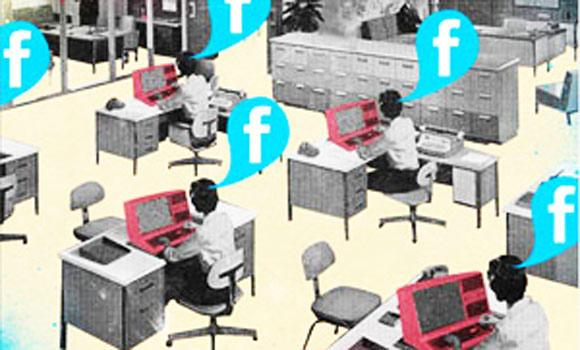 A new study says your boss may be looking at social media during office hours more than you are.