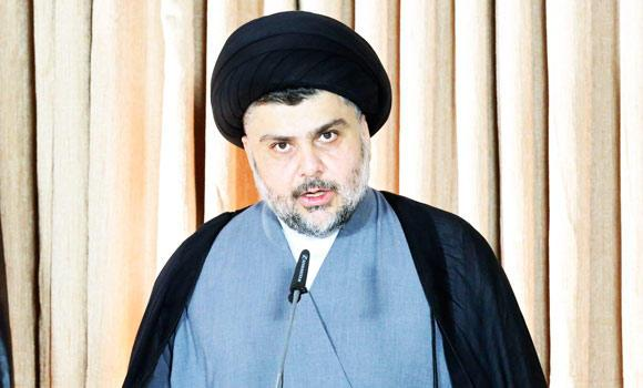 Iraq's Shi'ite religious cleric Moqtada al-Sadr gives a speech in Najaf, in this June 25, 2014 photo.