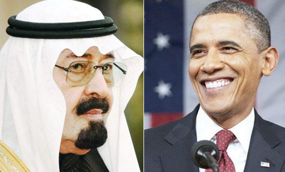 King Abdulah and Barack Obama.