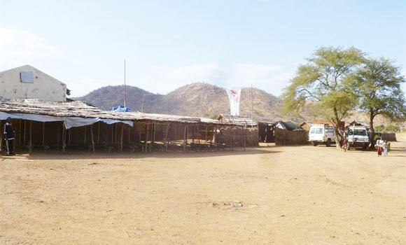 A handout picture released by Medecins Sans Frontieres (Doctors Without Borders) shows its hospital in Farandalla, in Sudan's South Kordofan region, in this Nov. 11, 2011 file photo.