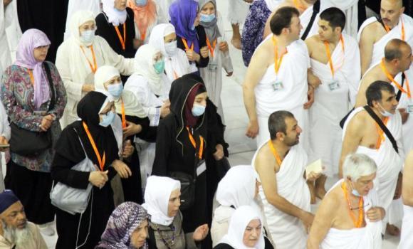 Umrah worshippers at Haram2