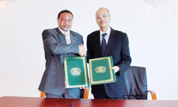 Zuhair bin Ali Azhar, CEO of the Saudi Education and Training Company, inked the agreement with Ahmed Sayeed, director of external relations and international cooperation at ISESCO.