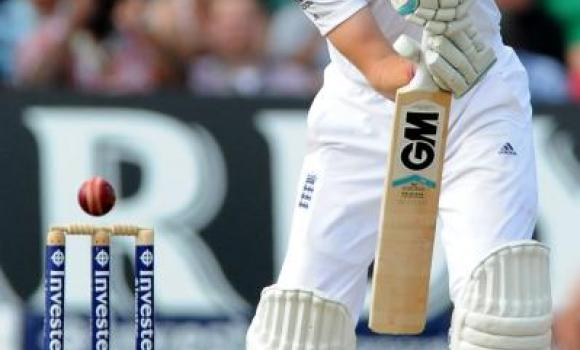 England's Joe Root plays a shot during day three of the first Test between England and India at Trent Bridge cricket ground, Nottingham, England, Friday.