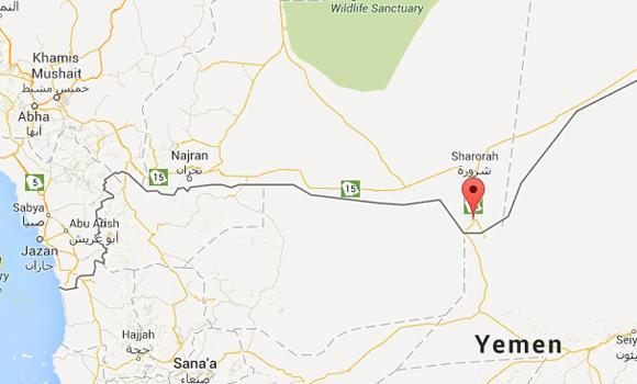 Wadiah town in the Saudi-Yemen border is highlighted in this Google map.