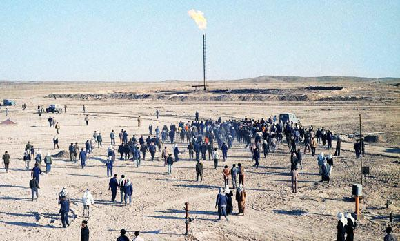 In this April, 1975 file photo, Syria opens its fourth oil field at Jbeissah, 19 miles west of the Iraq border in April 1975.