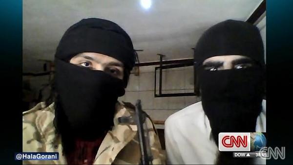 CNN spoke to two masked men, Abu Anwar al-Brittani and Abu Bakar.