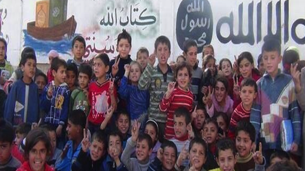 "An ISIS ""faith-strengthening"" event for children in one of the ISIS' strongholds in Aleppo province."