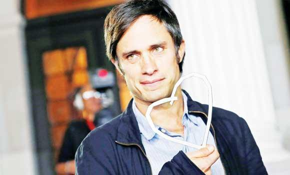 "Mexican actor Gael Garcia Bernal poses with the ""Heart of Sarajevo"" honorary award during 20th Sarajevo Film Festival in Sarajevo."
