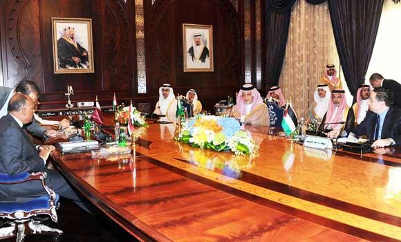 Foreign Minister Prince Saud Al-Faisal chairs a meeting of Arab foreign ministers in Jeddah. (SPA)