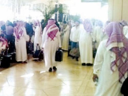 Saudis wishing to spend a few days abroad before schools reopen after the summer break continue to clog the Kingdom's airports.