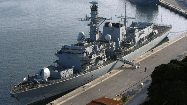 The British Royal Navy Type 23 frigate HMS Westminster is seen berthed in Valletta's Grand Harbour March 27, 2011.