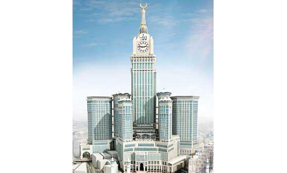 The Makkah Clock Tower offers majestic view of the Grand Mosque.