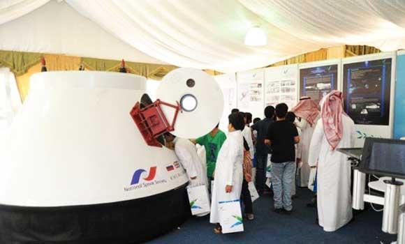 In this file photo, the first space capsule to be exhibited in the Middle East got an audience of over 1,000 students at the King Abdul Aziz City for Science and Technology (KACST) premises in Riyadh. (SPA)