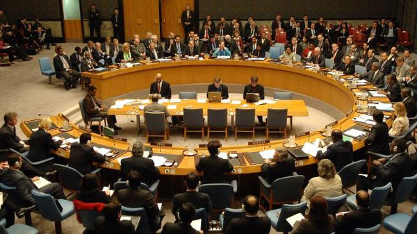 A meeting of the U.N. Security Council, who will on Friday vote on the UK-drafted resoluion.