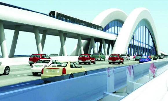 An artist's impression of the planned Jeddah Metro.