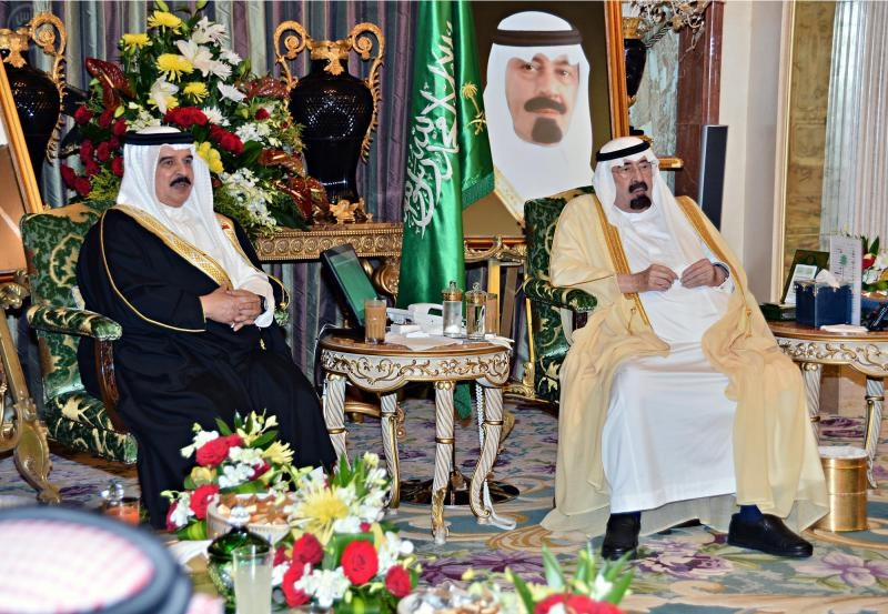 Bahrain King and King Abdullah