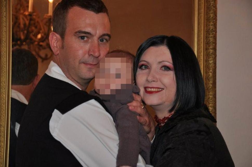 David Haines, with his Croatian wife Dragana and their daughter.