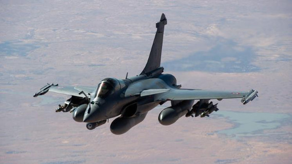 French Rafale fighter jets are being used on the reconnaissance mission.