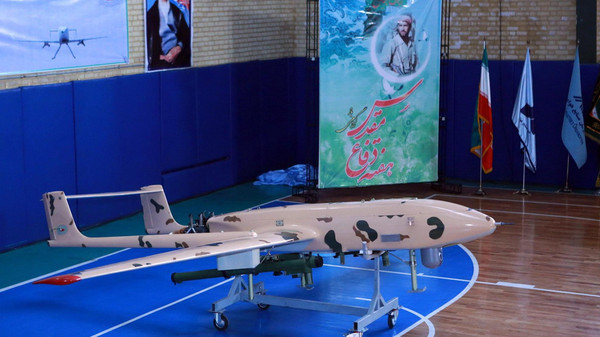 A handout picture released by the official website of Iran's Defence Ministry website on September 23, 2014, shows newly made drone during an unveiling ceremony in Tehran on September 23, 2014.