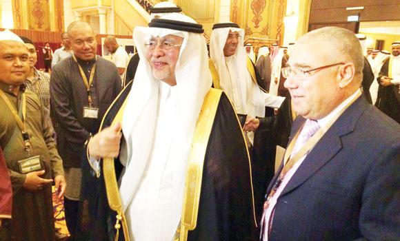 Minister of Culture and Information Abdulaziz Khoja during an annual meeting with world media delegations in Jeddah.
