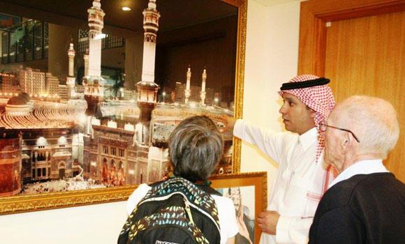 In this file photo, Australians visit a cultural exhibition at the Saudi Embassy in Canberra. (SPA)