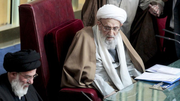 Ayatollah Mohammadreza Mahdavi Kani attends a meeting in 2012.