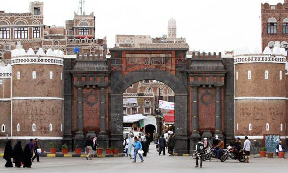 A view of the Bab al-Yemen shows the historic city of Sanaa, in this March 24, 2013 file photo.