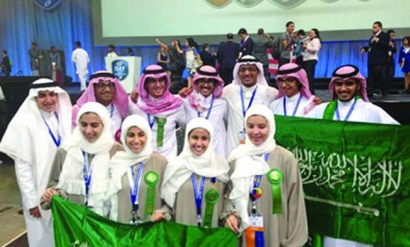 Gifted Saudi students represent their country in international contests.
