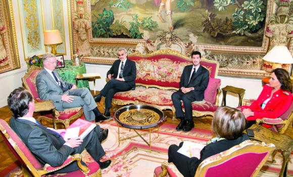 King Philippe of Belgium and Prince Alwaleed hold talks.