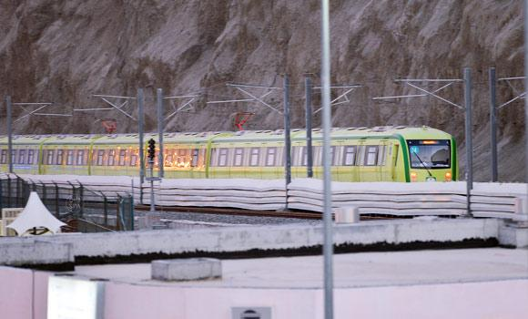 The Mashair train started operating in the early hours of Friday carrying 360,000 pilgrims to Arafat from Mina and back again.