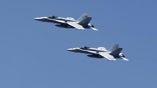 The NATO said it tracked Russian military aircrafts in European airspace.