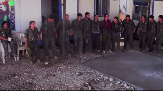 Survivors from the Yazidi community, who are now fighting with YPG forces against ISIS.