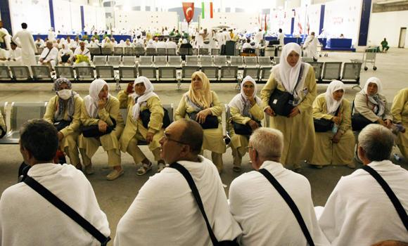 Pilgrims are seen at King Abdulaziz International Airport in Jeddah in this file photo. KAIA is undergoing massive expansion which would place it at par with the world's most modern airports.