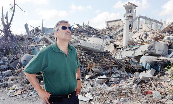 ANERA's Bill Corcoran in Gaza.