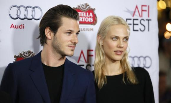 "Actors Gaspard Ulliel (L) and Aymeline Valade (R) pose at a special screening of ""Saint Laurent"" during AFI Fest 2014 in Hollywood, California November 11, 2014."