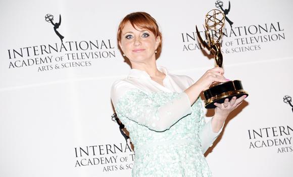 """""""Best Performance by an Actress"""" winner Bianca Krijgsman."""