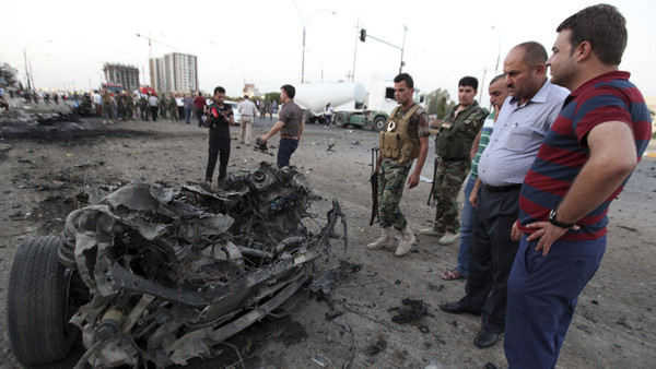 A suicide bomber detonated an explosives-rigged vehicle in the heart of the usually secure Iraqi Kurdish regional capital Erbil.